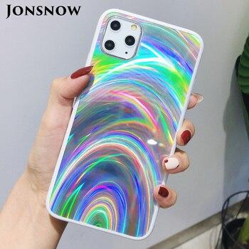 Étui Laser à prisme holographique JONSNOW pour iPhone 11 Pro XR XS Max étuis 3D housse de téléphone à paillettes arc-en-ciel pour iPhone SE 2020 7 8 6S 1