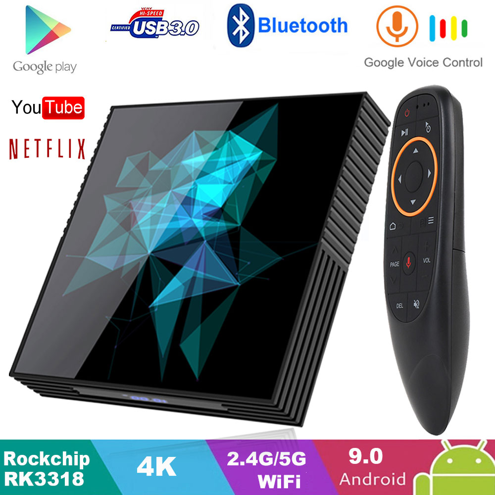 A95X Z2 IPTV Smart TV Box Android 9.0 4GB 32GB 64GB 2.4G/5G Wifi Bluetooth 4.2 4K Google Player PK H96 MAX RK3318 Android TV Box