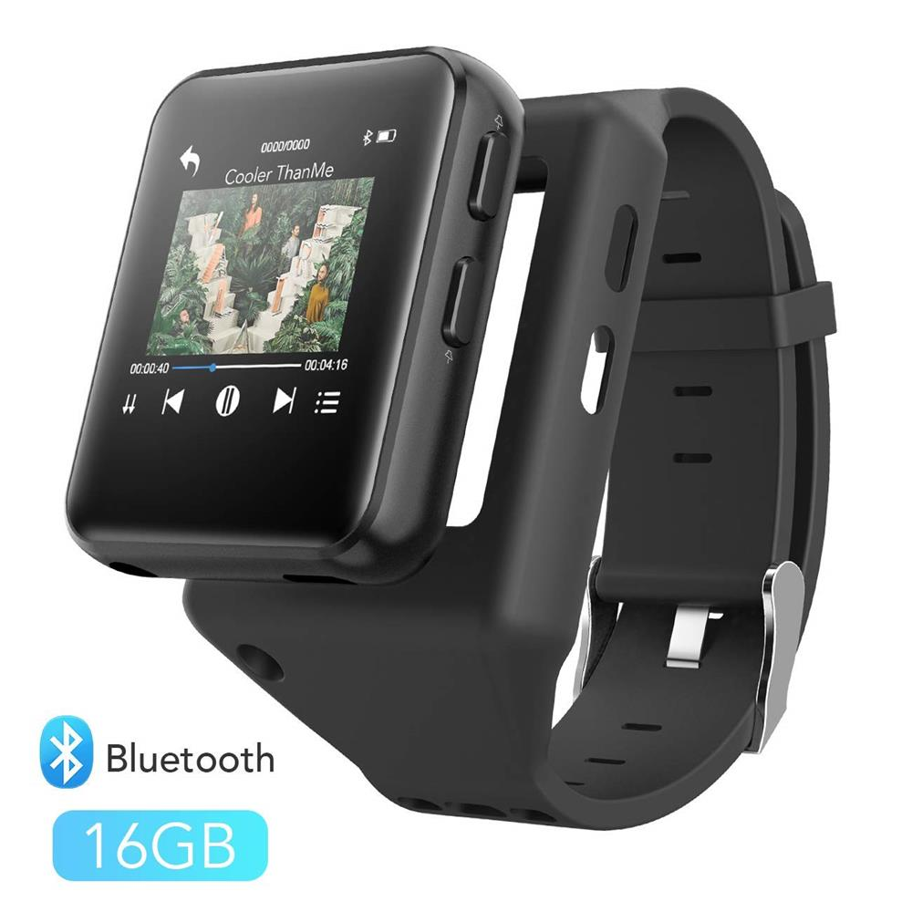 Lecteur MP4 bluetooth 4.2 avec pince 8 GB/16 GB écran tactile HiFi lecteur vidéo en métal avec Radio FM, enregistreur vocal Mini lecteur MP4