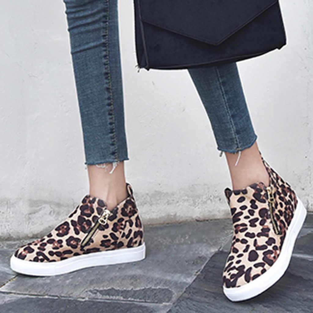 Botas de mujer genuino PU invierno y otoño de mujer plana Casual cremallera solo zapatos de talla grande botines zapatos de correr para estudiantes