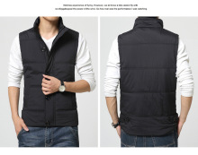 Thickened fall/winter vest men, solid color casual vest, Korean mens winter warm men jacket