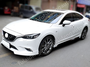 Image 3 - For Mazda 6 M6 Atenza 2014 2018 New Unpainted Side Skirt Extension Bumper Lip Body kit car styling accessories