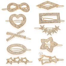 Hair-Accessories Star Hairpin Pearl Flower Crystal Geometric Butterfly Korean-Fashion