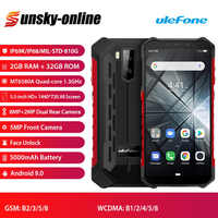 Ulefone Armor X3 Rugged Smartphone Android 9.0 5.5 inch Quad Core IP68 Waterproof 5000mAh 2G+32G Mobile Phone