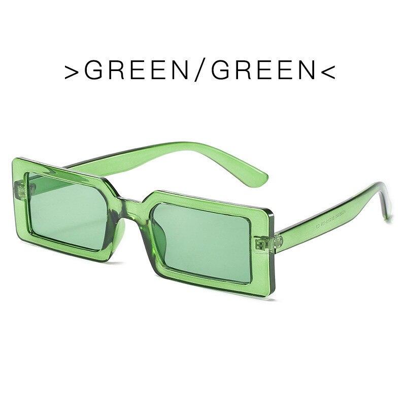 1pc retângulo óculos de sol do vintage marca designer retro pontos óculos de sol senhora lente gradiente