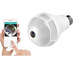 360 stopni bezprzewodowa IP kamera żarówka 1080P E27 lampy panoramiczne rybie oko inteligentnego domu alarmu monitorowania w CCTV kamera monitoringu Wi-Fi