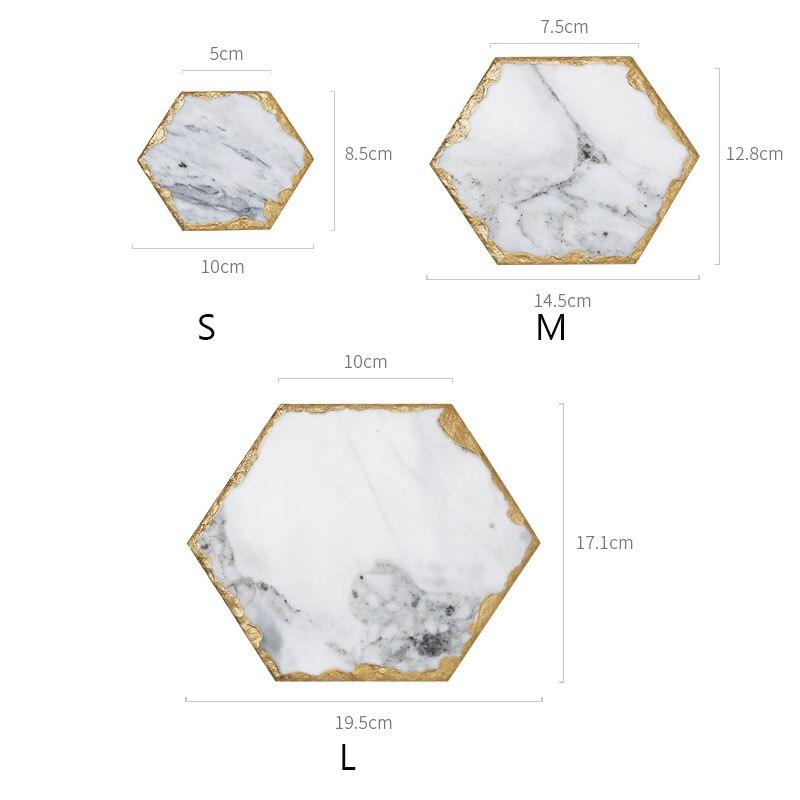 Мраморный поднос для хранения JINSERTA, ретро-тарелка для ювелирных изделий, косметический Органайзер, контейнер для еды, поднос для чая, кофе, молока, подарки-4