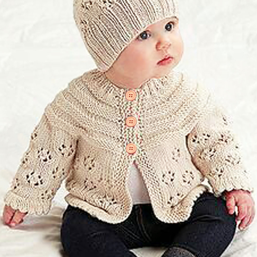 Autumn Winter Cotton Knitting Cardigan Sweater Baby Girls Boys Sweater Coat Clothes Toddler Infant Girls Boys Sweaters 0-12M