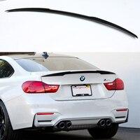 BMW F32 2014-2016 용 F32 M4 스타일 탄소 섬유 자동차 자동차 뒷 트렁크 스포일러 윙