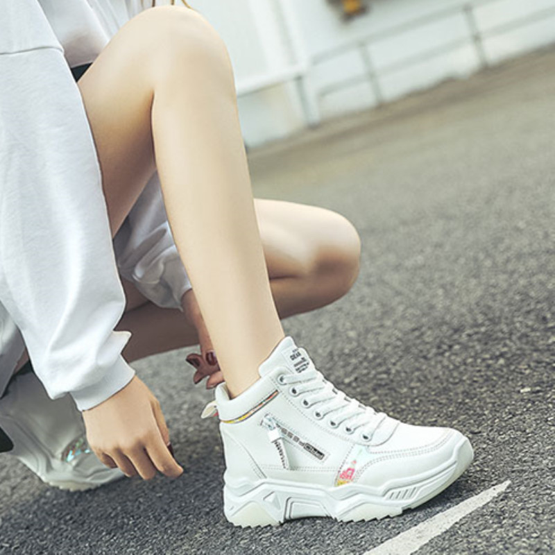 High Top Women Sneakers Ladies Shoes Comfortable Platform Shoes Women Casual Vulcanized Shoes Lace Up Autumn Women Shoes 18