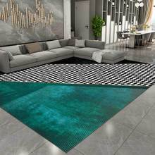Area Rugs Non-Slip-Carpet Stitching Bedside Black Nordic Luxury Floor-Mat Bedroom Hallway