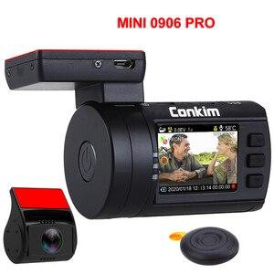 Image 2 - Conkim سيارة بعدسة مزدوجة داش كاميرات لتحديد المواقع DVR الجبهة 1080P + كاميرا خلفية 1080P FHD وقوف السيارات الحرس السيارات المسجل Mini 0906 PR0 داش كام