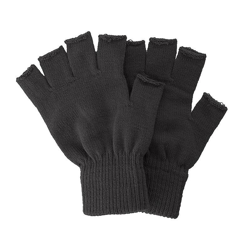 New Women Men Gloves Solid Black Fingerless Fleece Winter Warm Mittens For Autumn Female Gloves Mittens