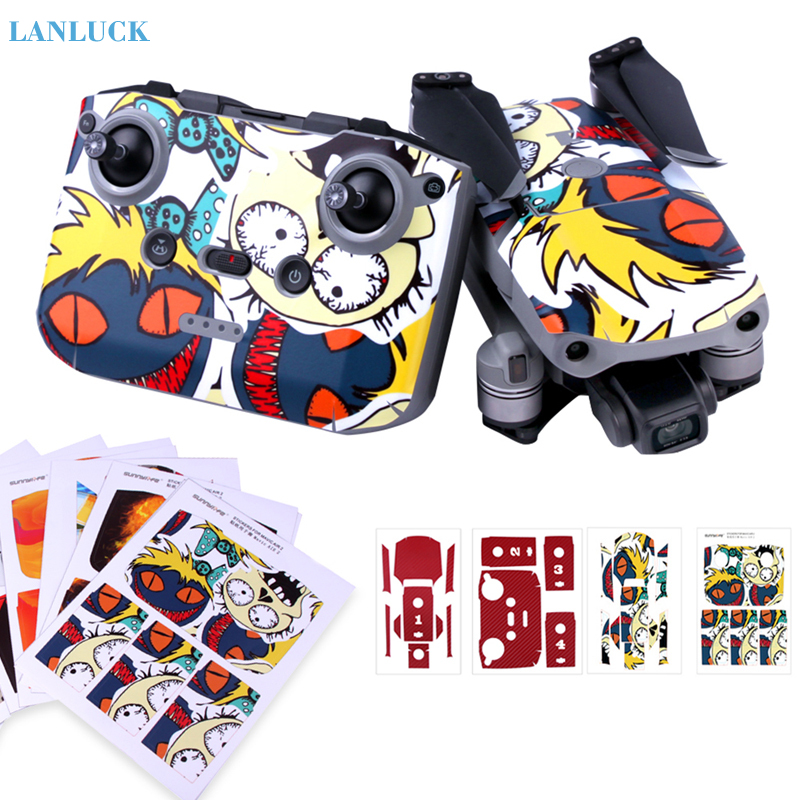PVC Protective Stickers For Mavic Air 2 Colorful Waterproof Scratch-proof Decals Full Cover Skin For DJI Mavic Air 2 Accessories