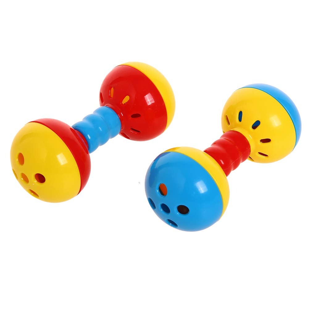 Parakeets Conures Toys Bird Rattles Bells Foot Toys Enrichment Barbell Ball Toys Play Gym Cage Accessories for Medium Parrots 8