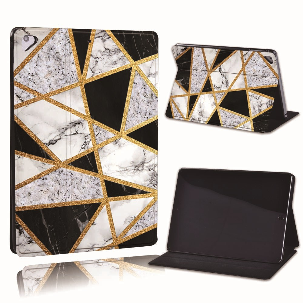 23.black grey marble Navy For Apple iPad 8 10 2 2020 8th 8 Generation A2428 A2429 Slim Printed Geometry PU