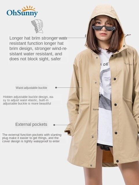 Sunscreen Windbreaker Raincoat Women Men Outdoor Waterproof Travel Long Rain Poncho Jacket Yellow Rain Partner Impermeable Gift 3