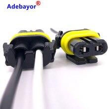 Connecteur de cordon de câble H11 100 X | 9005 fil, faisceau de lumière d'alimentation, prises de lampes, supports de lampe, adaptateur de câblage, ampoule brouillard