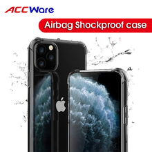 Shockproof Case  For iPhone 11 Pro Airbag Transparent Soft TPU Clear Phone 6 6S X XR XS Max Cover