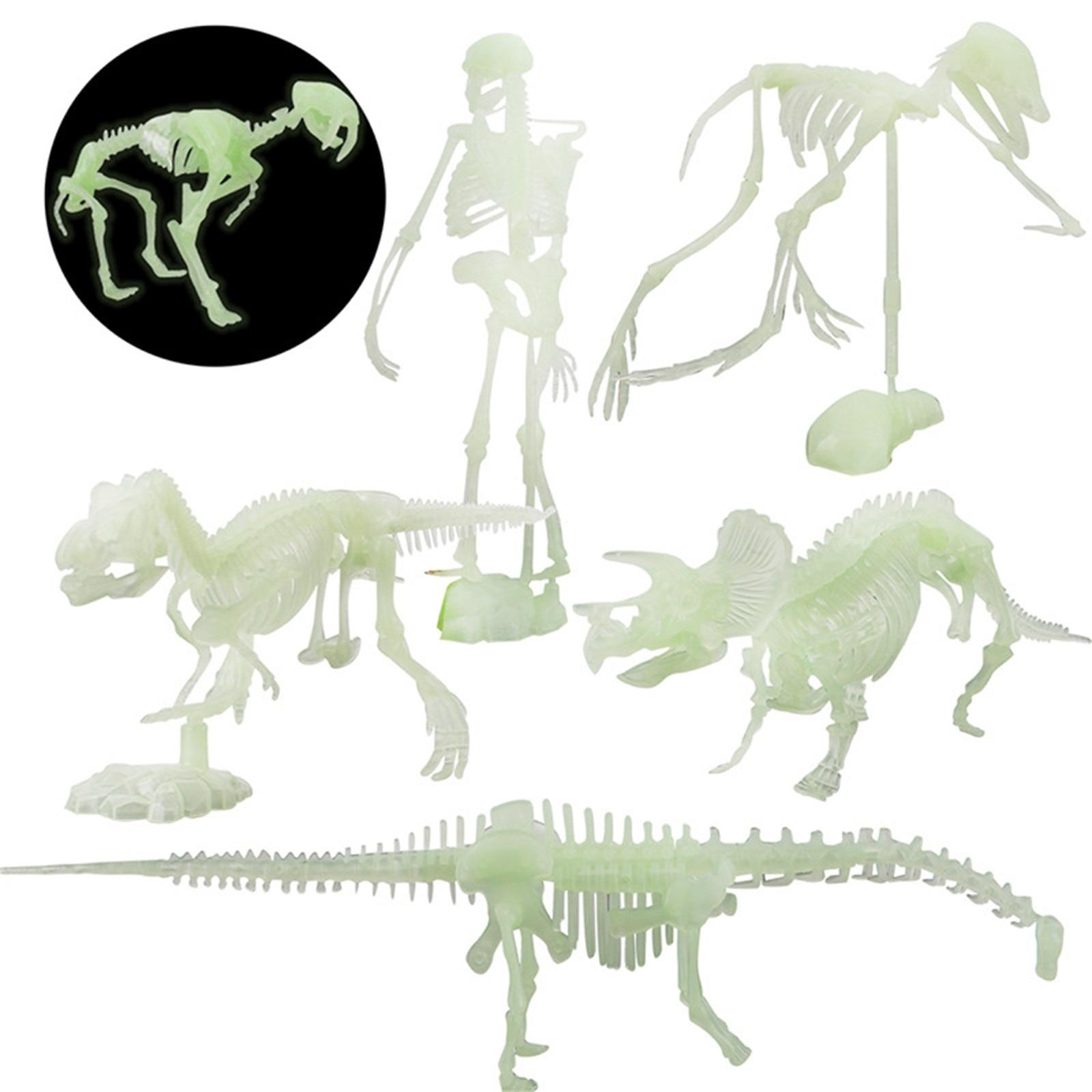 ossos fluorescentes de dinossauro para halloween modelo 04