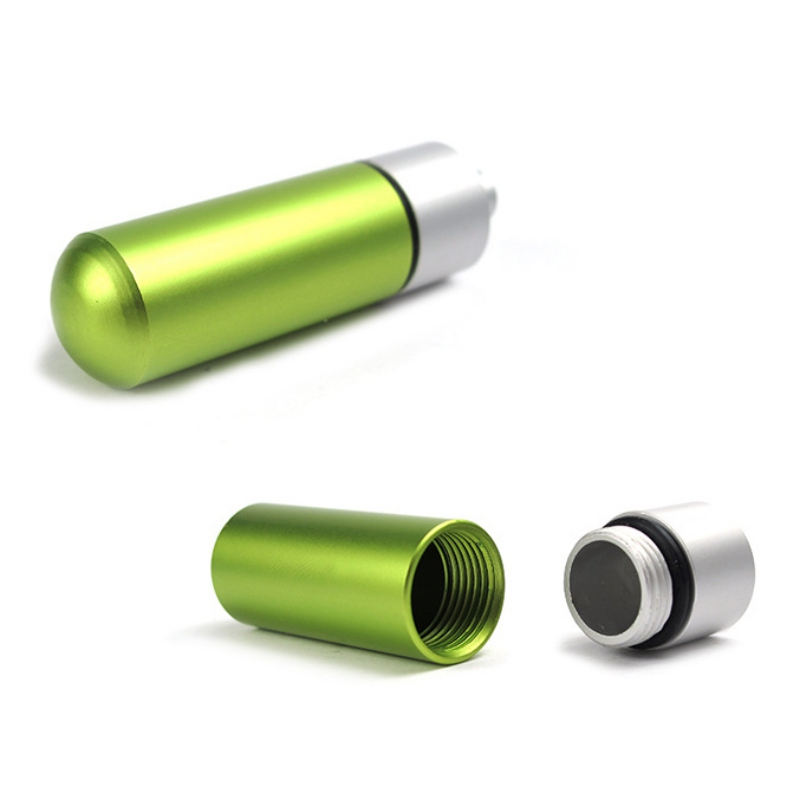 Новый алюминиевый водонепроницаемый чехол-канистра, портативная герметичная Капсульная емкость для бутылок, открытый инструмент для экст...