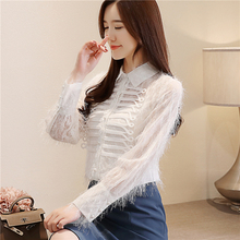 Women Blouses Korean Fashion Lace Shirt Plus Size Blusas Mujer De Moda 2019 Elegant High Street Lady