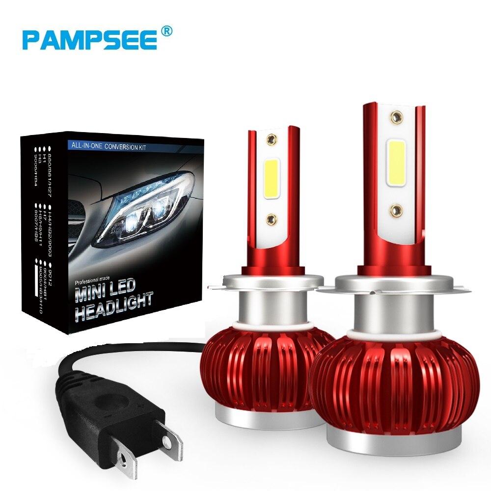 2x H7 LED H11 H4 Hi/Lo H1 H3 H8 HB1 HB3 HB4 HB5 PS24W HIR2 H13 H9 9006 9005 Car Headlight Bulbs 3000K 4300K 6000K 8000K COB FS35(China)