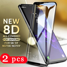 2Pcs full cover tempered glass for samsung galaxy note 8 9 10 pro s10 s9 s8 plus s7 edge phone screen protector protective film