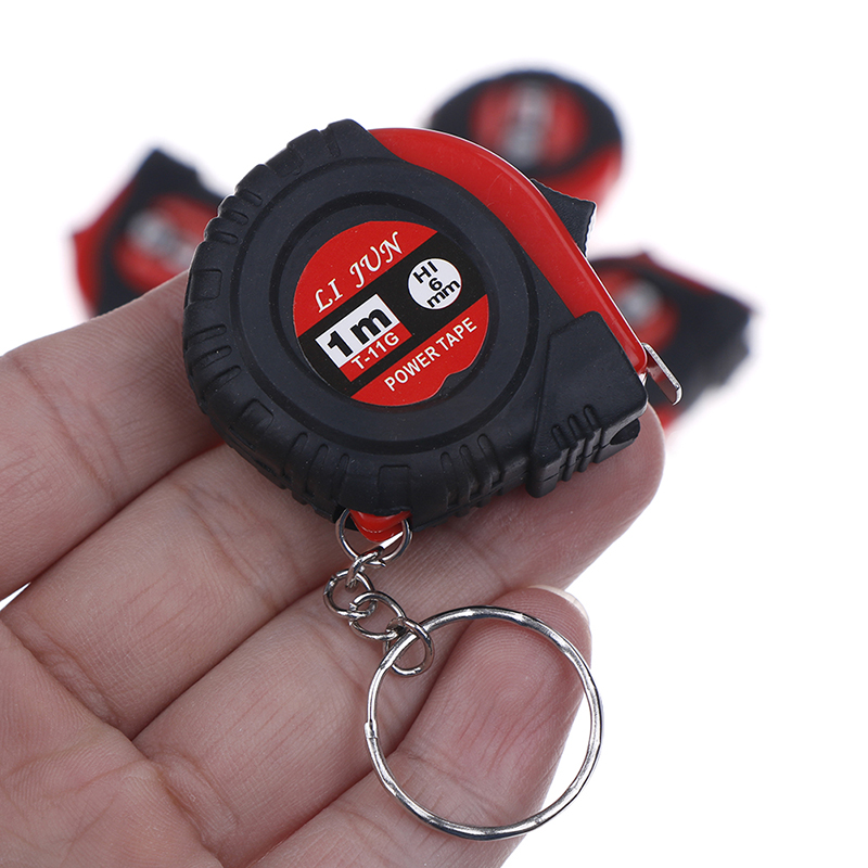 1Pc Retractable Tape Measure Ruler Measure Ruler Portable Pull Ruler Keychain Retractable Ruler Tape Measure Mini Size