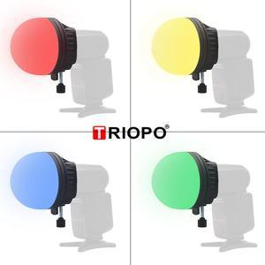 Image 3 - Triopo TR 07 magdome cor filtro refletor favo de mel difusor bola foto acessórios kits para godox yongnuo flash substituir