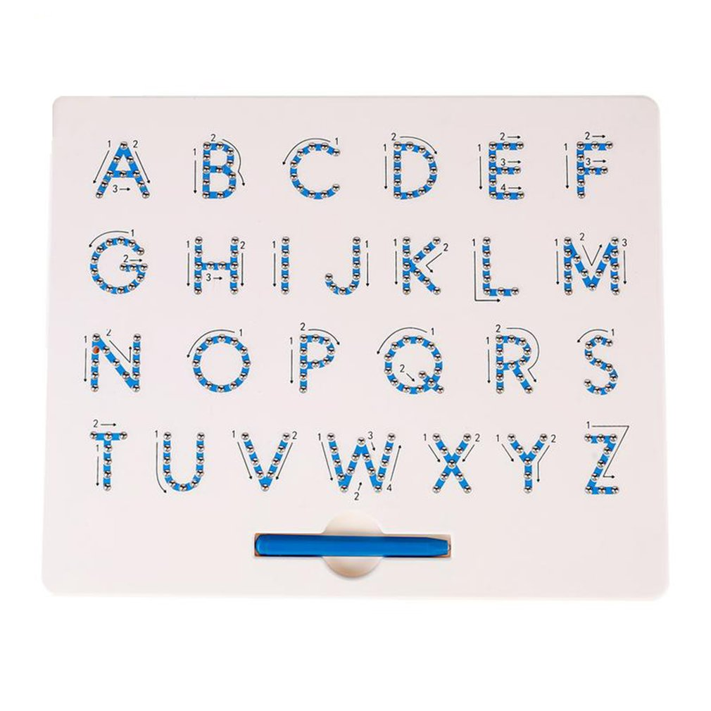 Magnetic Lowercase Letter Board Puzzle Magnetic Board Magnetic Steel Ball Letter Board Early Education Tool