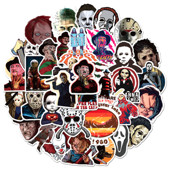 10/30/50pcs/pack Horror Movies Group Graffiti Stickers For Notebook Motorcycle Skateboard Computer Mobile Phone Cartoon Toy Box - discount item  29% OFF Classic Toys