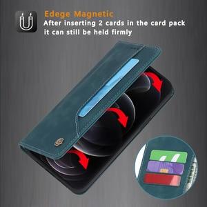 Image 3 - Étui à rabat en cuir mat pour iPhone, portefeuille magnétique avec support de carte, pour modèles 12 Mini 11 Pro XR X XS Max 8 7 6 6s Plus SE 2020