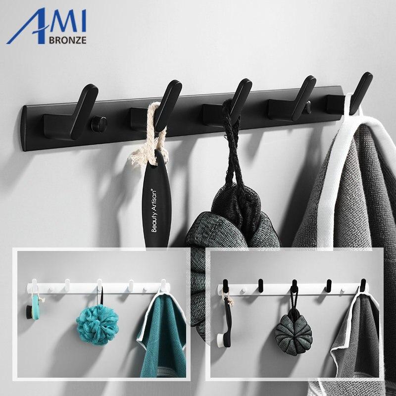 White/Black Painted Robe Hooks Wall Hang Mounted Towel Hook Clothes Hook Bathroom Hardware Hat Hook