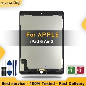 100% New 9.7'' LCD For Apple iPad 6 Air 2 A1567 A1566 Touch Screen Digitizer Assembly Replacement + Tools(China)