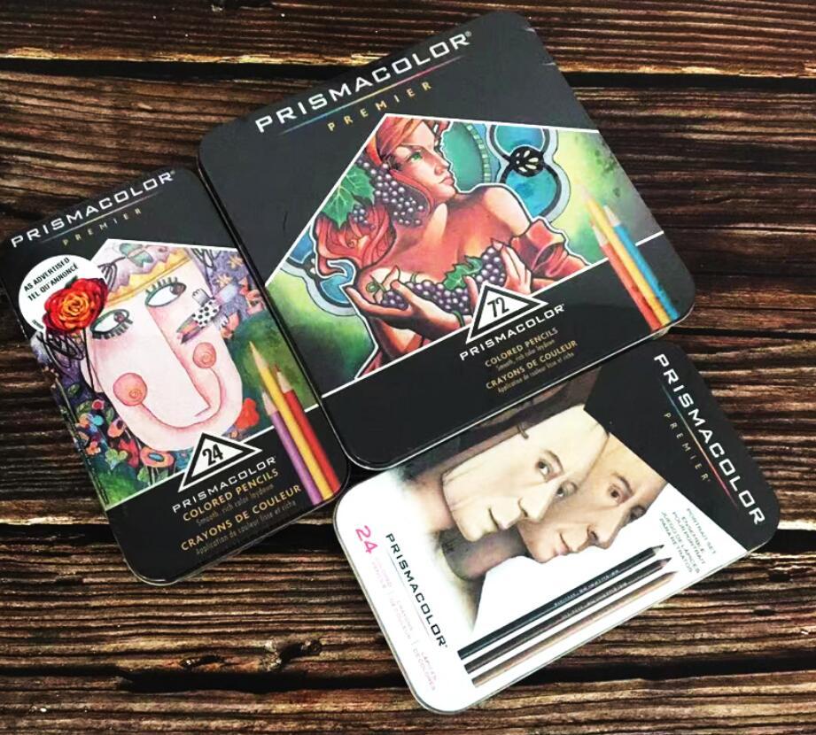 12/24/36/48/60/72/120/132/150/160 artista adulto crianças lápis de cor lápis de cor prismacolor sanford цветной свинец Plombo de núcleos
