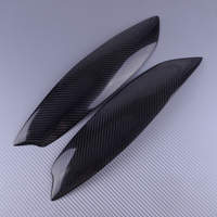 Car Headlight Eyelid Eyebrow Cover Trim Stickers lamp Carbon Fiber Texture Fit for VW Volkswagen Golf GTI MK5 2005 2006 2007
