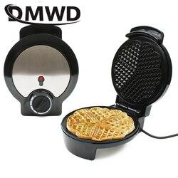 DMWD elektryczny gofry ekspres mini ciasto piekarnik Grill kształt serca jajko wafel Pan śniadanie maszyna do pieczenia Muffin Sandwich żelaza ue usa w Waflownice od AGD na