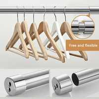 Adjustable Stainless Steel Spring Tension Rod Rail For Clothes / Towels / Curtains Curtain Pole Rods 81CM To 155CM / 31To 61cm
