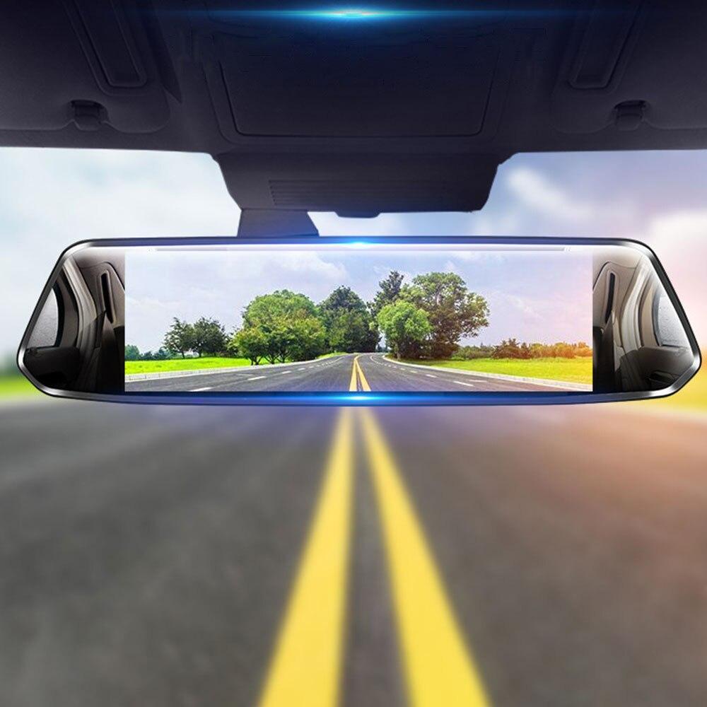 7 pouces écran tactile voiture DVR 1080P double lentille caméra rétroviseur enregistreur vidéo Dash Cam Vision nocturne Auto caméra
