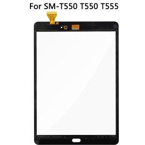Image 4 - الأصلي لسامسونج غالاكسي تبويب E SM T550 T550 T555 شاشة إل سي دي باللمس شاشة الاستشعار الزجاج لوحة مرقمة T550 LCD لوحة اللمس