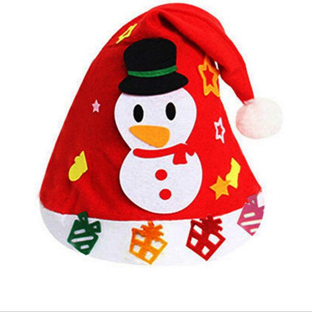 1PCS Children Creative Nonwoven Fabric Hats Christmas Gift Creative Decoration Supplies Kids DIY Handmade Crafts Art Toys