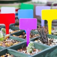 Пластиковые растения Т-образные бирки Маркеры детские садовые этикетки 12 цветов Многоразовые 20 шт садовые инструменты