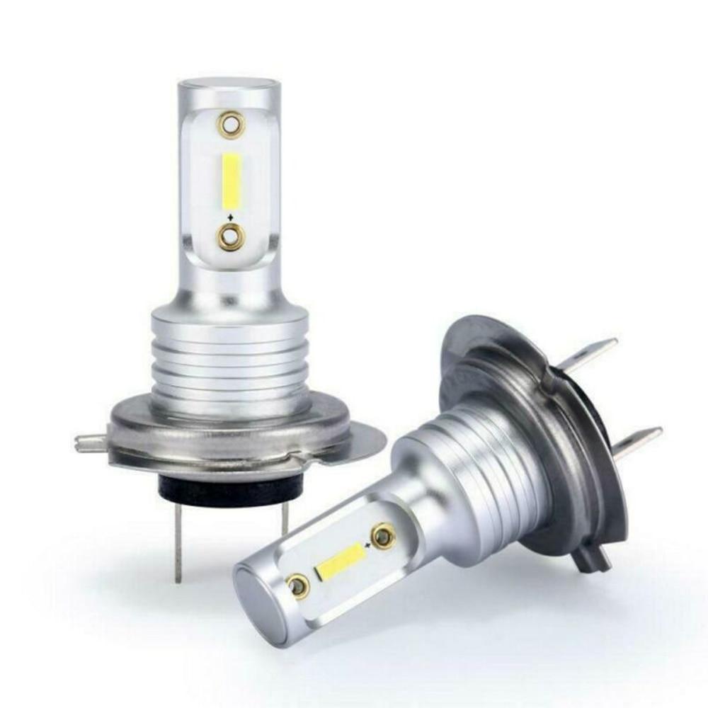 2PCS H7 LED Headlight Bulbs Conversion Kit Hi/Lo Beam 8000LM 6000K DC 12-24V HOT