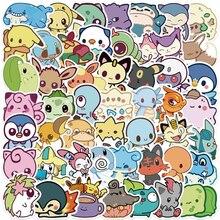 50pcsQ version of Pokemon graffiti stickers decorative luggage refrigerator notebook water cup guitar waterproof stickers