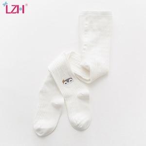 LZH Childrens Socks 2020 Autumn Winter New Girls Cartoon Embroidered Pantyhose Baby Fashion Leggings Childrens cotton Socks