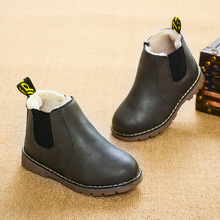 limited Winter Rain Boots Short Boots Big Boy Children's Shoes Boys Short Boots England Leather shoes Girls Boot New botas