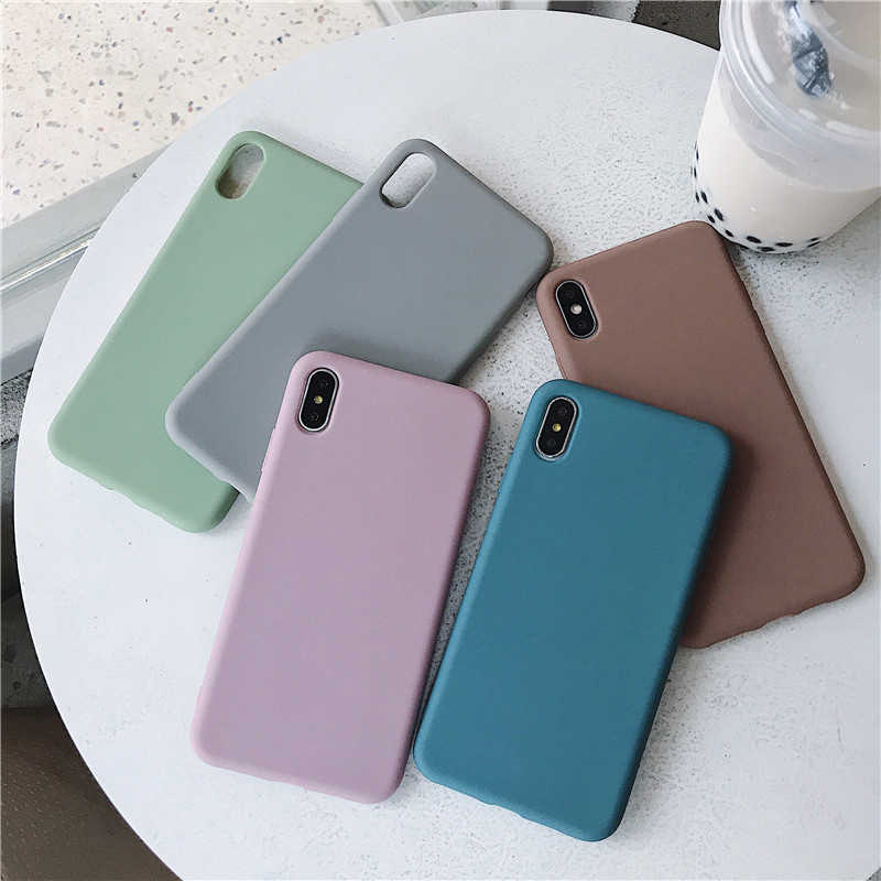 Matte Phone Case For Huawei P30 P20 Lite Pro P Smart Plus 2019 Soft TPU Candy Color Case For Huawei P8 P9 P10 Lite 2017 Fundas