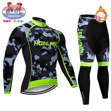 2020 New Children Winter Cycling Clothing Kids Cycling Jerse