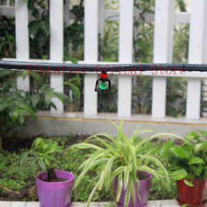 """Image 5 - 200pcs Greenhouse Gardening Rotary Atomization Sprinkler With 1/4"""" Barbed Irrigation Equipment Automatic Watering Microsprinkler"""